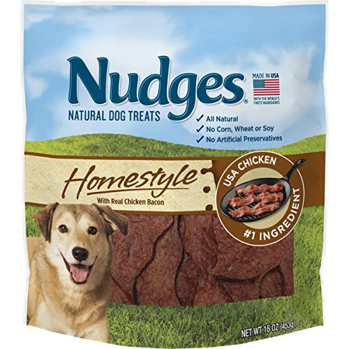 Nudges Homestyle with Real Dog Treats, 16 oz. (Chicken Bacon)