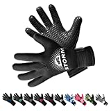 BPS 3mm Neoprene Scuba Gloves with Anti Slip Palm - Full Finger Gloves...