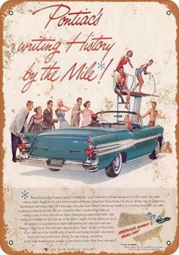 Promini Letrero de metal con diseño de coche de la carretera con el número 1 de los Estados Unidos de América, estilo vintage, para bar, cafetería, 20,3 x 30,5 cm