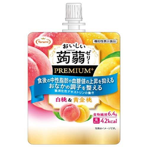 たらみ おいしい蒟蒻ゼリーPREMIUM+ 白桃&黄金桃 150gパウチ×30(6×5)本入×(2ケース)
