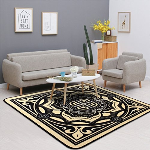 YF Carpet Tapis de Style National antidérapant Salon Canapé Tapis de Table de thé Table de Maison Chaise de Chambre Chaise Tapis carré (Couleur : #2, Taille : 120 * 120cm)