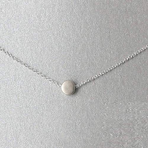 JSYHXYK Collar Collar Collar Glamorosa Mujer Geométrica Redonda Collar Colgante Collar Alta Joyería Oro