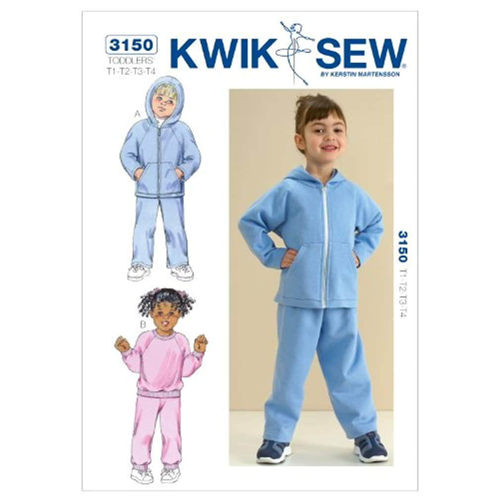 Kwik Sew K3150 Shirts and Pants Sewing Pattern, Size T1-T2-T3-T4