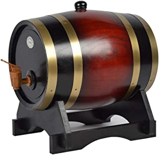 Tonneau de vin, Tonneau à vin en bois de chêne, baril de stockage de whisky Wine Spirit avec robinet pratique durable Demi...