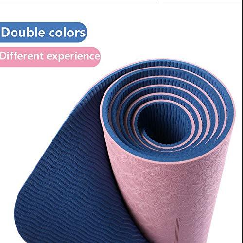 weichuang Colchoneta Yoga TPE Yoga Alfombrilla con Bolsa Gratis Yoga Rodillera con Línea De Posición para La Meditación