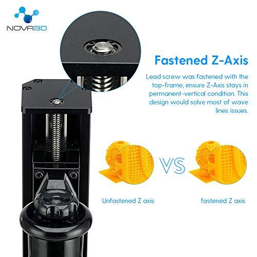 NOVA3D Elfin LCD 3D Resin Drucker Druckbereich von 132 x 74 x 150mm mit WLAN/Offline-Drucken, 4.3 Zoll Farbtouchscreen - 4