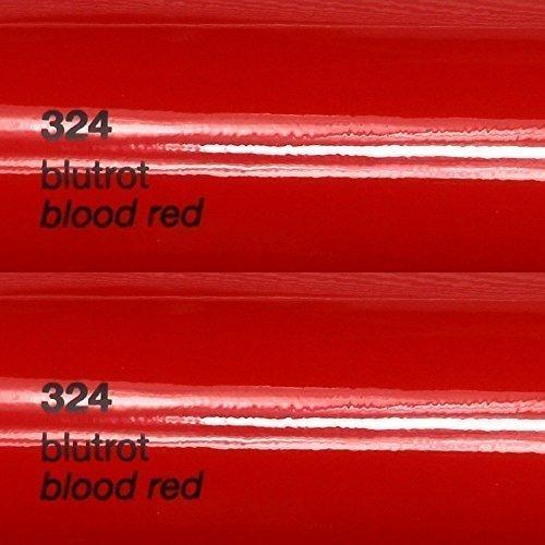 8,25€/m² Oracal 751c - 324 Blut Rot - Glanz Klebefolie - 5m x 63cm - Folie - Moebelfolie - Plotterfolie - Selbstklebend - gegossen - cast