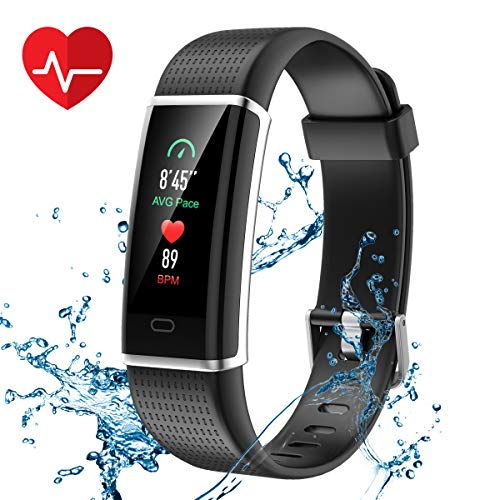 CHEREEKI Fitness Armband, Fitness Tracker Wasserdicht IP67 Aktivitätstracker Schrittzähler Fitness Uhr Schlafmonitor Kalorienzähler Anruf Nachricht Benachrichtigung für Damen Herren Kinder