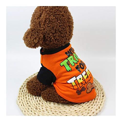 Disfraz de calabaza de JINAN para mascotas de Halloween y gato, divertida camisa de perro de Grimace Pug Candy-man, abrigo de Navidad para perros (color: perro travieso, tamao: XL)