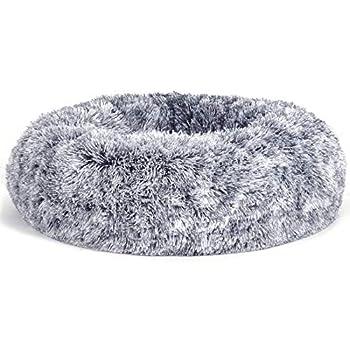 FEANDREA Panier pour Chien, Lit pour Chat, Tissu Peluche, 70 cm, Gris PGW039G01