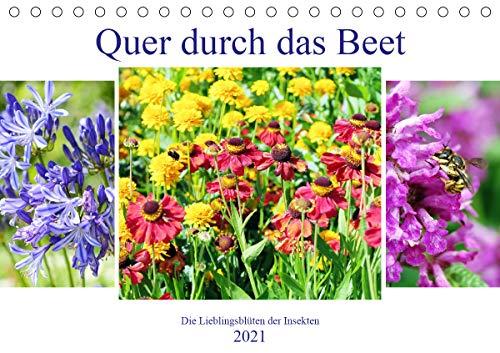 Quer durch das Beet - Die Lieblingsblüten der Insekten (Tischkalender 2021 DIN A5 quer)