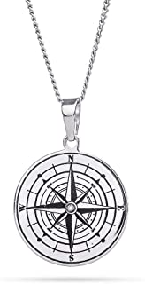 Eve's Addiction Engravable Compass Pendant with Crystal
