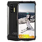 Ulefone Power Armor 13 4G Smartphones, Batería 13200mAh, Helio G95 8GB + 256GB, 48MP + 16MP, Teléfono Móviles Libre Resistente IP68, 6.81'FHD + Android 11, Carga Inalámbrica NFC