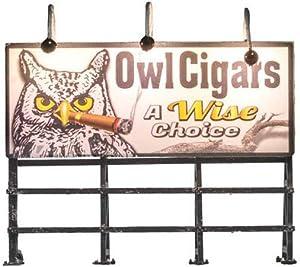 Just Plug Woodland Scenics Lighted Billboard, Wise Tobacco Co.