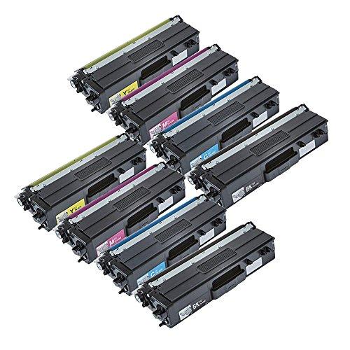 ECS Compatible cartucho de tóner de repuesto para Brother dcp-l8410cdw hl-l8260cdw hl-l8360cdw mfc-l8690cdw mfc-l8900cdw tn-423(BK/C/M/Y, 8-Pack)