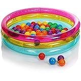 com-four® Piscina con Palline - Piscina per Bambini con Palline Colorate - Minipiscina Gonfiabile per i più Piccoli