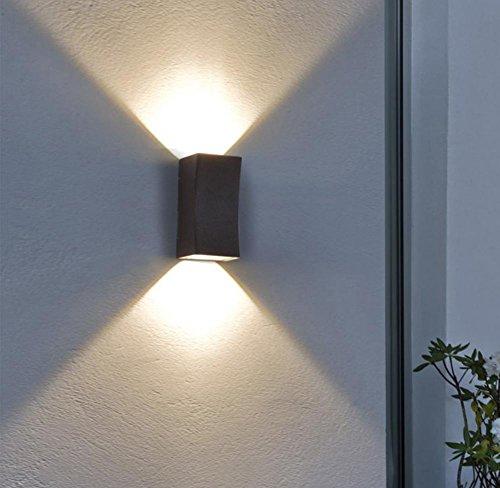 Applique LED Imperméable Double tête Lumière extérieure Patio De plein air Lumières d'allée Moderne Simple Balcon Mur extérieur 220V , Neutral light