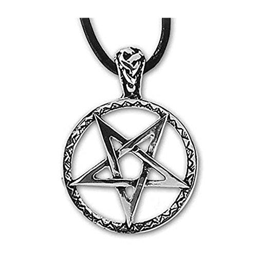 Anhänger umgedrehtes verziertes Pentagramm Silber Schmuck etNox - Schutz - 460