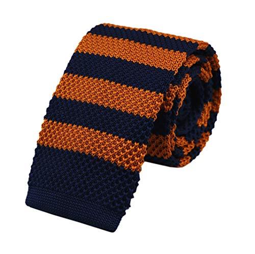 Herren-Krawatte, einfarbig, Skinny Strickkrawatte, Vintage, elegant, aus Baumwolle für Bräutigam - - Einheitsgröße