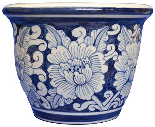 Unbekannt Pot de Fleurs en céramique Peint à la Main Thaïlande pour Tous Les rebords de fenêtre.
