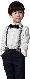 Newborn Baby Boy Clothes Set Shirt + Bowtie + Suspender Pant 4pcs Toddler Boy Gentleman Outfits Suit Set