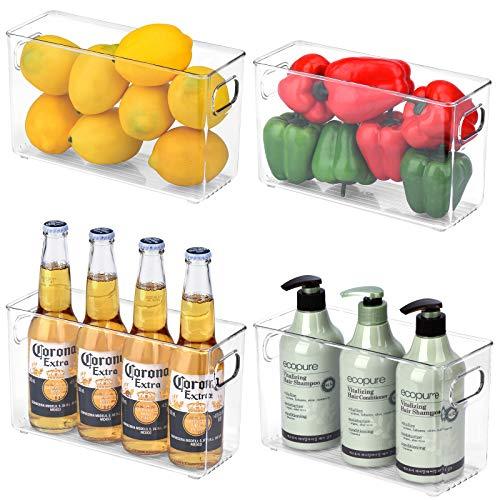 Toplife Contenedores organizadores para frigoríficos, contenedores de plástico transparente con asa para cocina, despensa,...