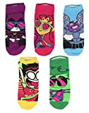 Teen Titans Go! To The Movies Cool Character Ankle Socks 5 PK for Men and Women