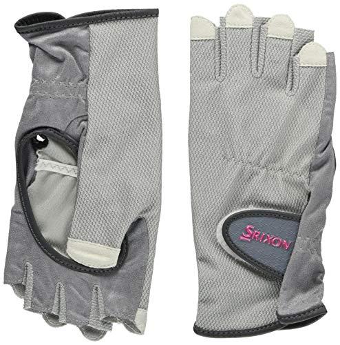 DUNLOP(ダンロップ) レディース テニス グローブ ハーフタイプ 両手セット 手のひら側穴あきタイプ SGG0710 グレー(020) S