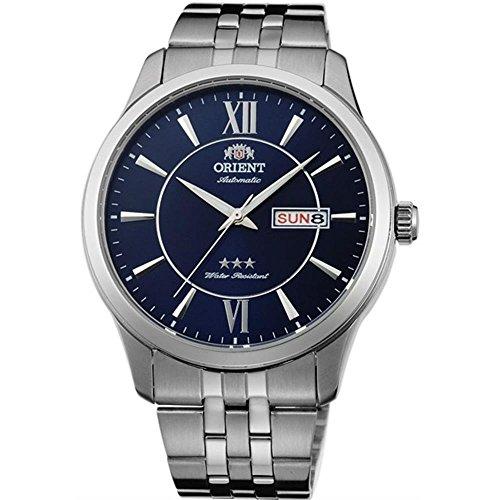 Orient Men's 43mm Steel Bracelet & Case Automatic Blue Dial Analog Watch FAB0B001D9...