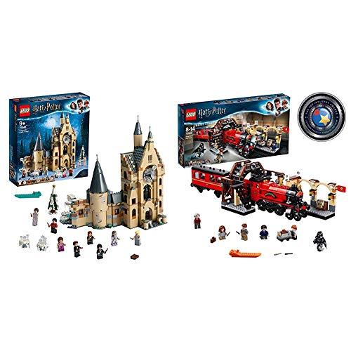 LEGO Harry Potter - Torre del Reloj de Hogwarts, Set de Construcción Compatible con los Sets del Sauce Boxeador y el Gran Comedor + Harry Potter - Hogwarts Express, Tren de Juguete y Andén 9 y 3/4
