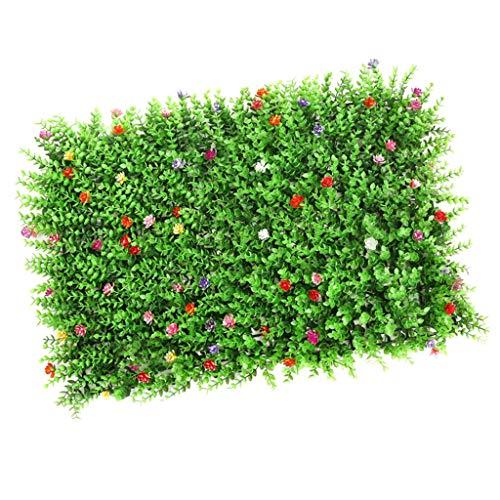LOVIVER Künstliche Rasen Kunstrasen Kunstwiese Rasen Wand Hochzeitsdeko Garten Verzierung - Rasen mit Blume
