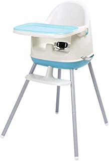 Multifunctional Adjustable Portable Baby High Chair 3-in-1 Child Seat Baby Dining Table Chair (Color : Blue)