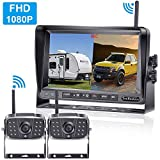 LeeKooLuu 1080P Digital Wireless 2 Backup Cameras Kit RV Observation System 7''...