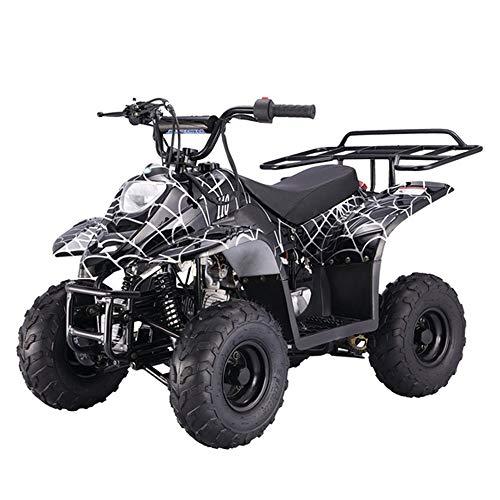 X-PRO 110cc ATV Quad Youth ATVs Quads 110cc 4 Wheeler ATVs Kid Size ATV 4 Wheelers ,Spider Black