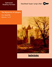 The Mysteries of Udolpho Volume 1 of 4  A Romance: [EasyRead Super Large 20pt Edition]