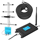 AT&T Cell Phone Signal Booster T-Mobile 4G LTE 700MHz Band 12/17 Home Mobile Signal Repeater Amplifier Antenna Kits for Home and Office up to 4000 Sq Ft Improve 4G Data and 4G Calls (Black)