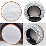 Andykuang Tire Cover 4 Pack Wheel Cover for RV Trailer Travel Camper SUV Motorhome Tire Covers Sun Rain Snow Protector Waterproof Fits 22