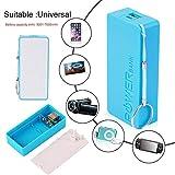 CamKpell Cas de Banque de Puissance de Batterie de Chargeur de Batterie de Secours Externe portatif de Charge USB pour téléphones - Bleu