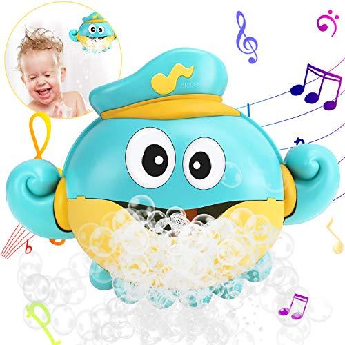 Gifort Badespielzeug Bubble, Baby Spielzeug Seifenblasenmaschine Badespielzeug Spielzeug Bubble Blase Badespielzeug mit Musik für Kinder