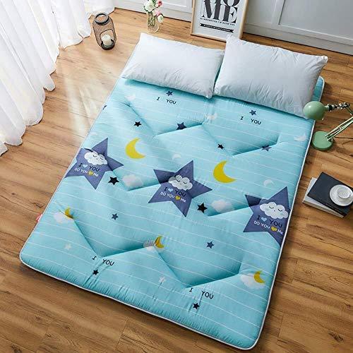 Suelo de estilo japonés futón colchón, Grueso dormir Mat cubierta plegable rueda for arriba el colchón de la muchacha del muchacho dormitorio Colchón en el piso del cojín niños sofá de la silla y sofá
