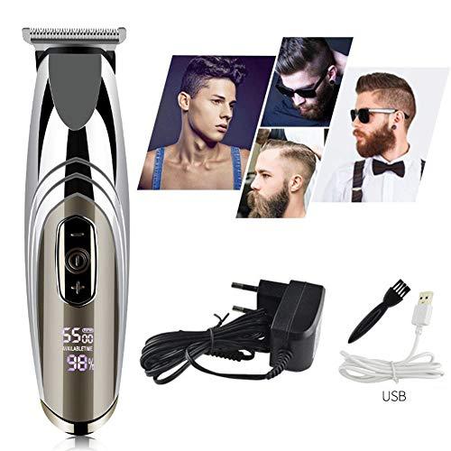 HLDWXN Haarschneider Für Männer USB LCD Haarschneider Erwachsene Kinder Wiederaufladbare Elektrische Haarschneider Friseursalon Professionelle Ölkopf Elektrische Haarschneider Haarschnitt Kit