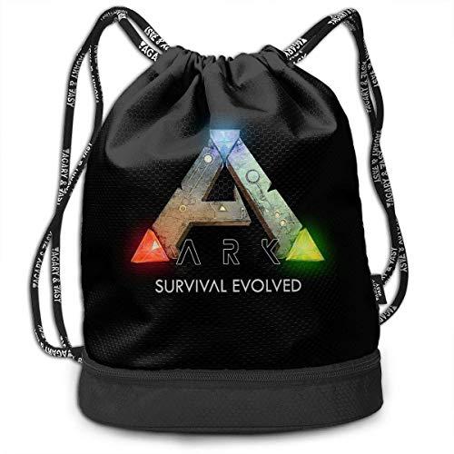 Mochila con cordón Ark Survival Evolved Logo Drawstring Backpack Rucksack Shoulder Bags Training Sack For Gym Sports