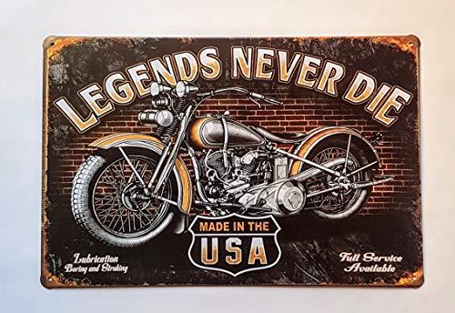 Placa de matrícula Vintage Moto Made IN USA, 30 X 15 cm