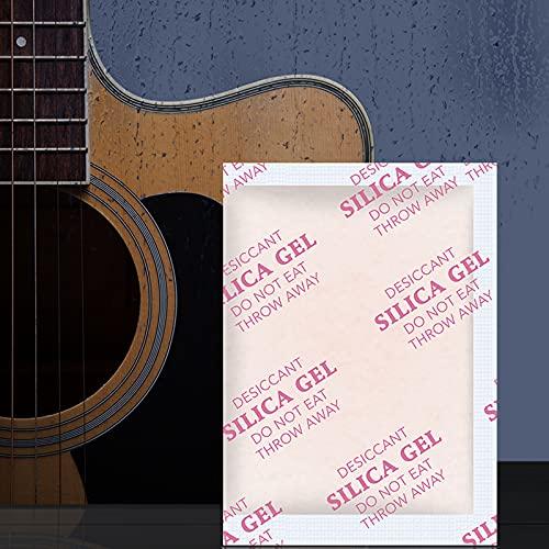Gel de sílice desecante Absorbente de Humedad,Bolsas De Sachets Desecante PequeñO Paquete,Moisture Absorber Silica Gel Desiccant Packets for Storage para cámaras,Pianos,Guitarras,Bajos,audífonos
