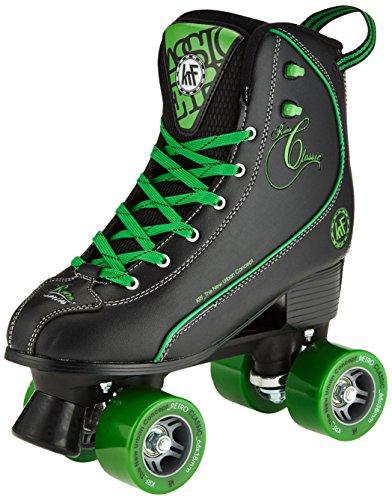 KRF Getty patines de ruedas, Retro, negro/verde, 36