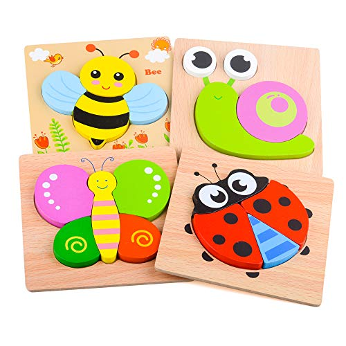DUDUFLY Puzzles Jigsaw for Baby Boys, Wooden Puzzles Toys for 1-3 Year Old...