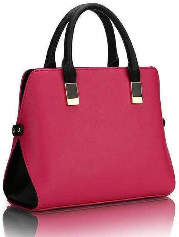 BagPrime Modern Classic Handbag Women's Large Genuine Leather Shopping Handbag Style Modern Classic Crossbody Bag (pink)