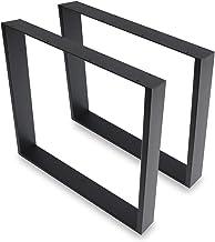 2 stuks tafelpoten tafelframe van gepoedercoat staal mat zwart - industrieel design tafelonderstelset tafelonderstellen ta...