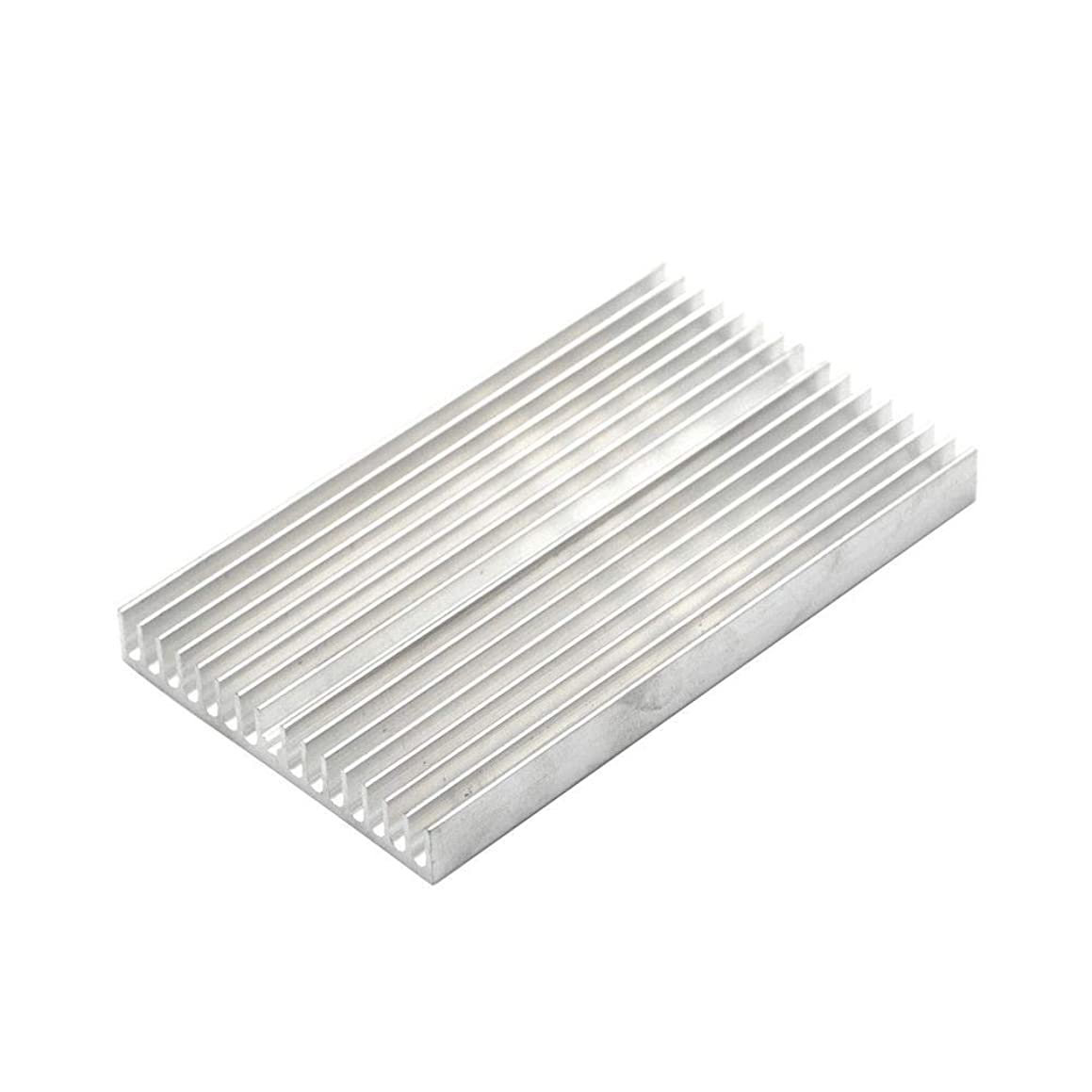 1pcs Silver Tone Aluminum Heatsink Cooler Radiator Heat Sink Heatsink Adhesive Glue 100x60x10mm