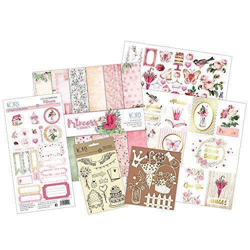 Kit scrapbooking - Princess Garden (tarjetas en ESPAÑOL)